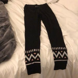 Fitted sweat pants